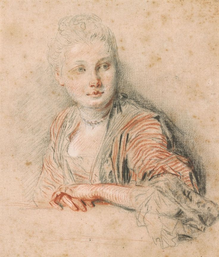 Jean-Antoine Watteau Portrait study of a young woman Morgan Library