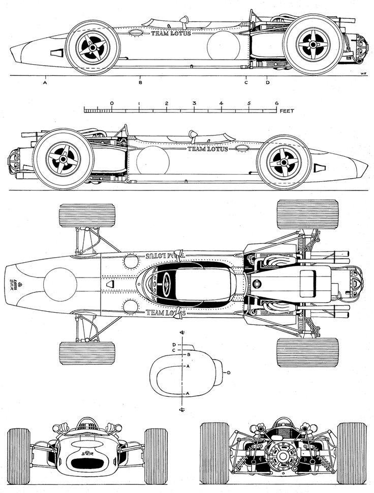 Lotus 43 blueprint