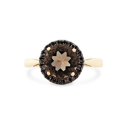 Gwiazda dzisiejszego dnia, zdecydowanie. Jak Wam się podoba połączenie kwarcu dymnego z czarnymi brylantami i złotem? ;)  #quartz #gold #ring #jewelry #blackdiamonds #star