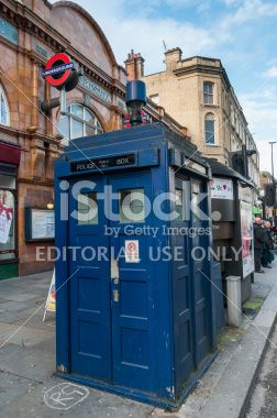 The last Tardis in London Royalty Free Stock Photo