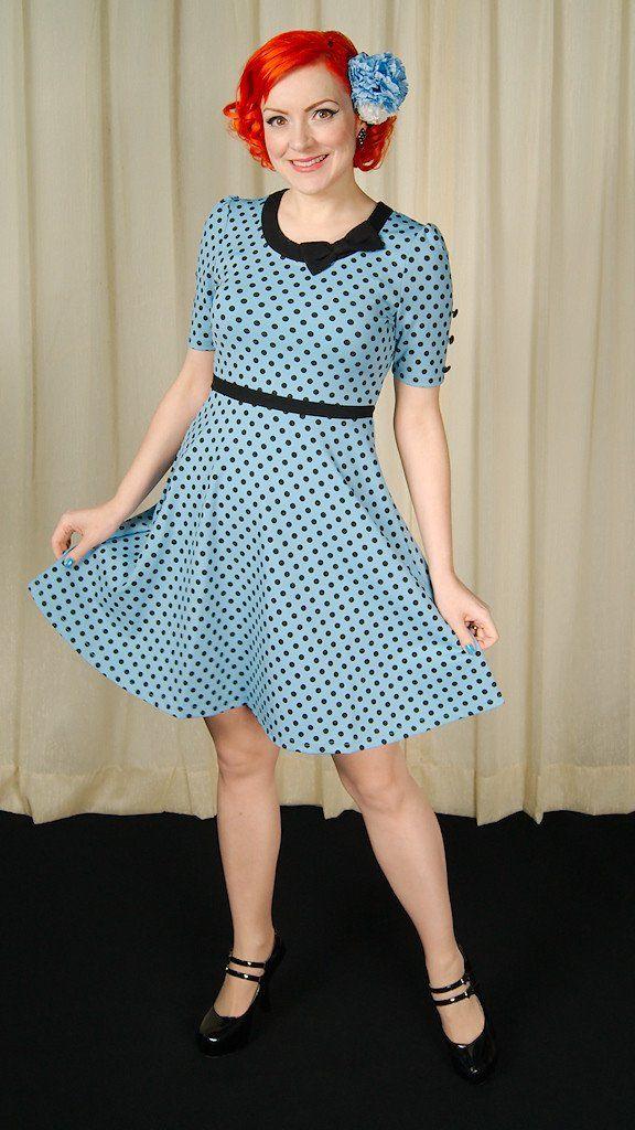 Betty Blue Polka Dot Dress