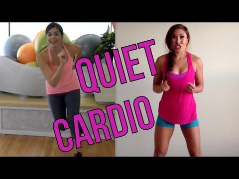 Quiet Cardio Shhhh! with Coach Nicole & Cassey Ho | POP Cardio- super quick cardio workout using no equipment and no need for a lot of space! Great for doing in the living room or when it's too gross to go running outside! This girl's workout videos are awesome!