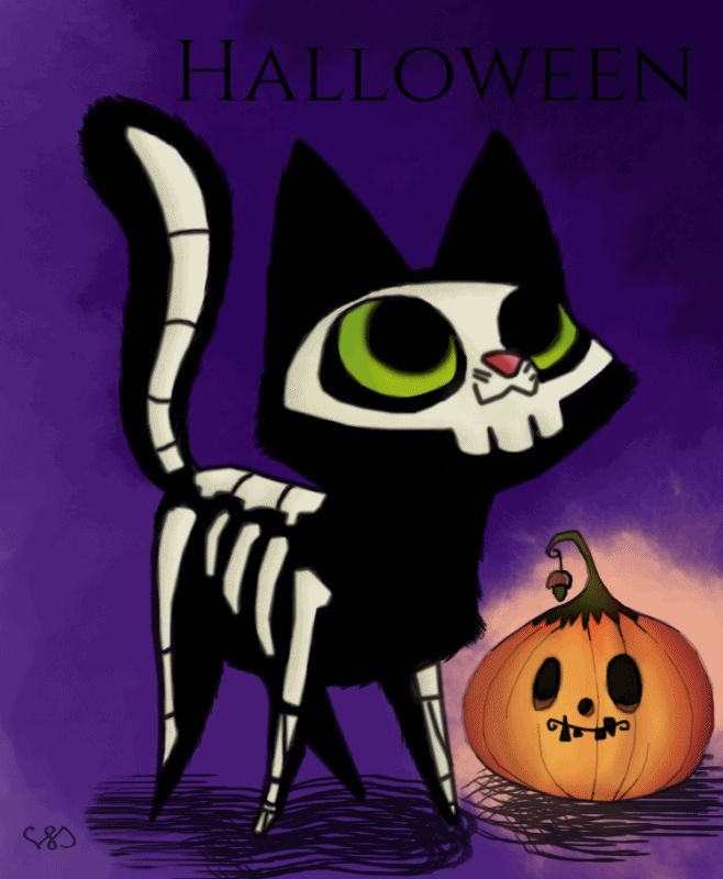 Halloween-re szerettem volna elkészülni ezzel a GIF-el, de ami késik nem múlik ;)  Saját rajzokból állítottam össze, összesen 18 darab kellett hozzá. Photoshop és Photoscape
