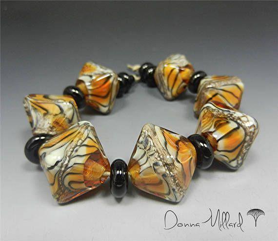 Artisan LAMPWORK Beads handmade beads artisan bracelet