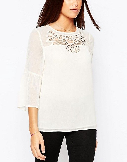 ASOS Warehouse Embroidered Smock Top