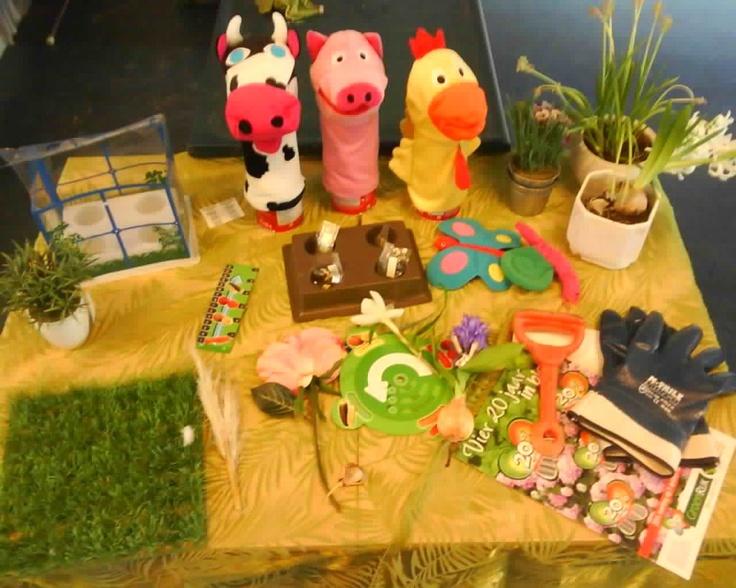 Thematafel in de tuin/lente