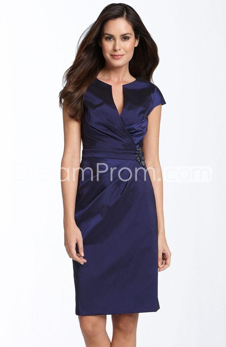 Buy Cheap Cheap Elegant Crystal Floral Pin Short/Mini-Length Short-Sleeves Mother Of The Bride Dress SN309766 2013 Mother of the Bride Dress...