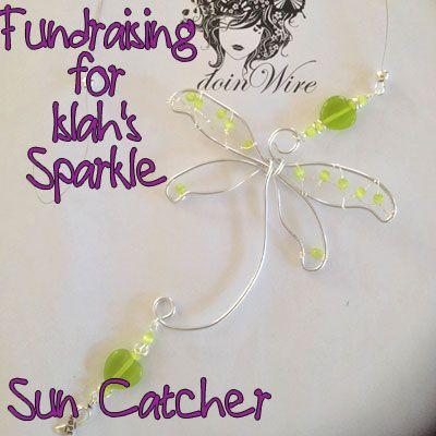 IslahsSparkle Suncatcher Dragonfly with Green Cats Eye beads https://www.facebook.com/IslahsSparkle