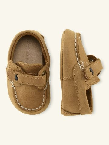 Ralph Lauren baby boy Leather Loafer, obsessed with polo for baby