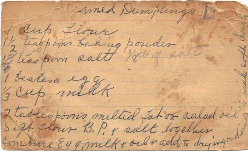 Old Handwritten Reciped Card