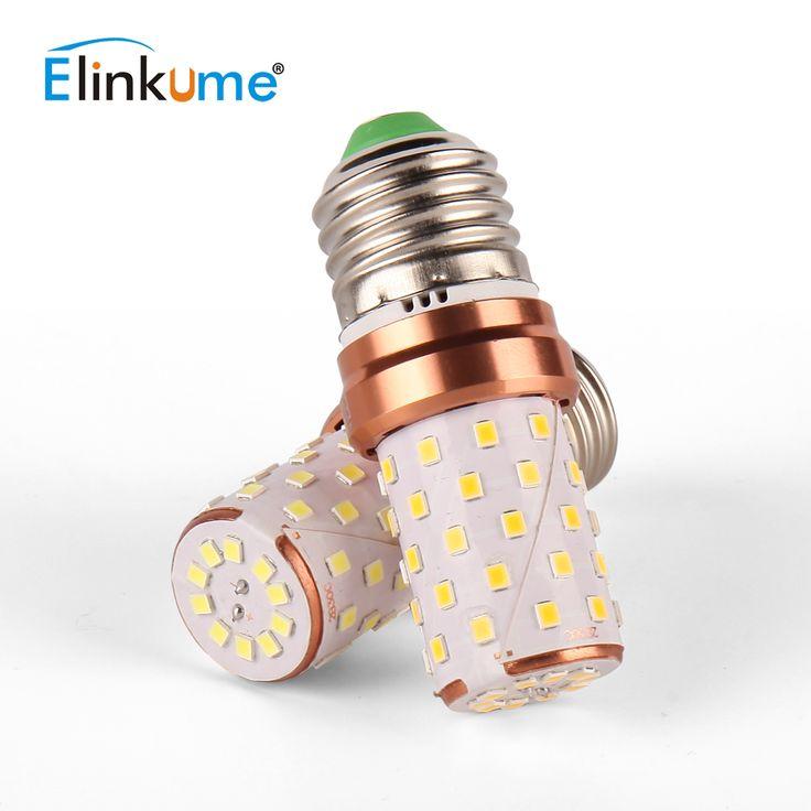 Elinkume Smart Powered LED Bulb E27 Corn Bulb Aluminum Shapeless 60 LEDs AC85-265V 6W SMD2835 Golden Led Lampen Bombillas Led #Affiliate