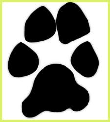 Free dog paw print clip art - fun to use for dog-related projects.