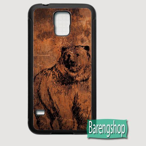 Rubber Case Bear Wood Custom Samsung Galaxy S5 Case