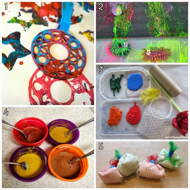 Learn with Play at home: 10 Creative and Different Kids Painting Activities