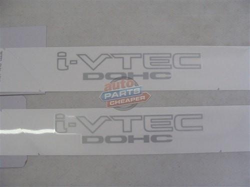 "2007-2011 Honda Civic Si ""i-vtec DOHC"" Stickers (2) Genuine OEM"