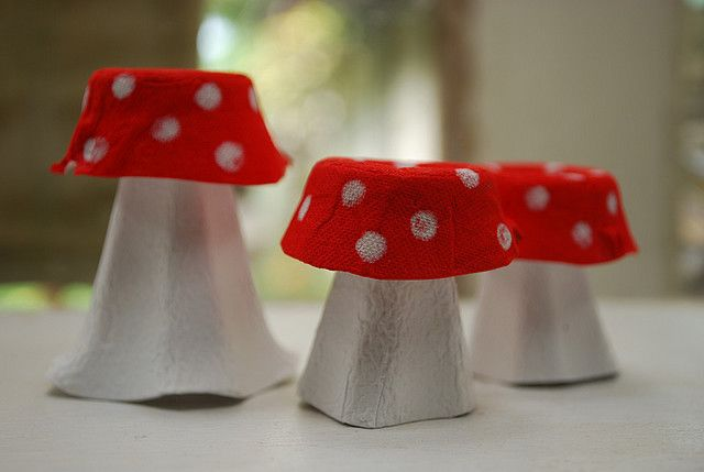 Egg carton toadstools!  I wondered if somebody else had this idea.  They look egg-zactly how I imagined!  :)