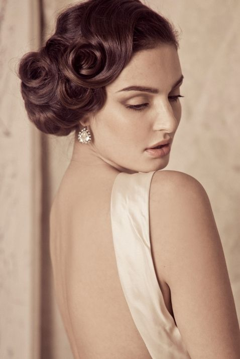 Vintage Wedding Hairstyle Great Gatsby inspired wedding makeup an hair