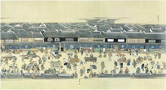 三井不動産|『熈代勝覧』の複製絵巻「三越前」駅地下コンコース壁面に常設