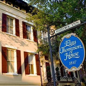 Haunted houses of the American South: Eliza Thompson House, Savannah, Georgia