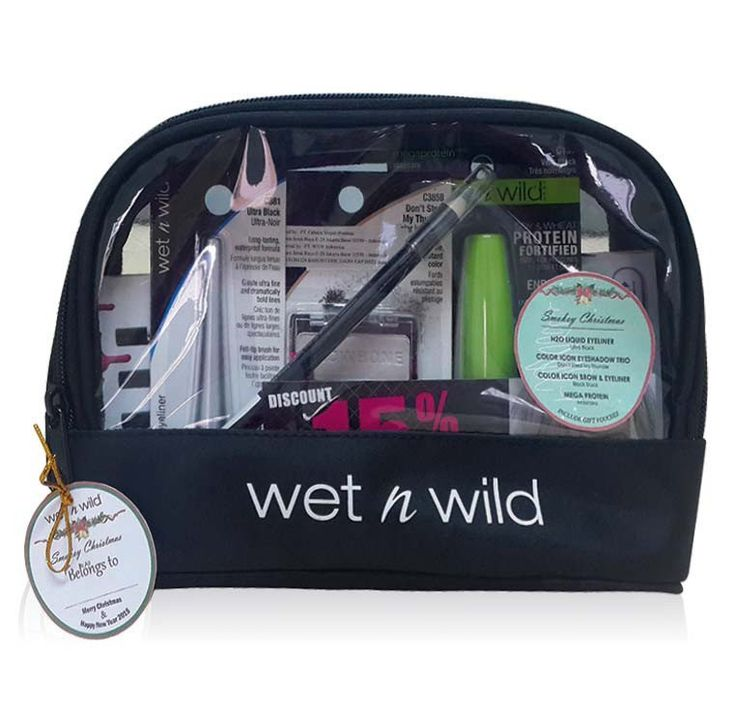 Smokey Christmast by Wet N Wild. Celebrate your christmast with Smokey Christmast.  This beauty package contains H2o proof liquid eyeliner black, Eyeshadow trio - don't steal my thunder, Mega protein mascara, Color icon Brow & eyeliner black.    http://www.zocko.com/z/JICN2