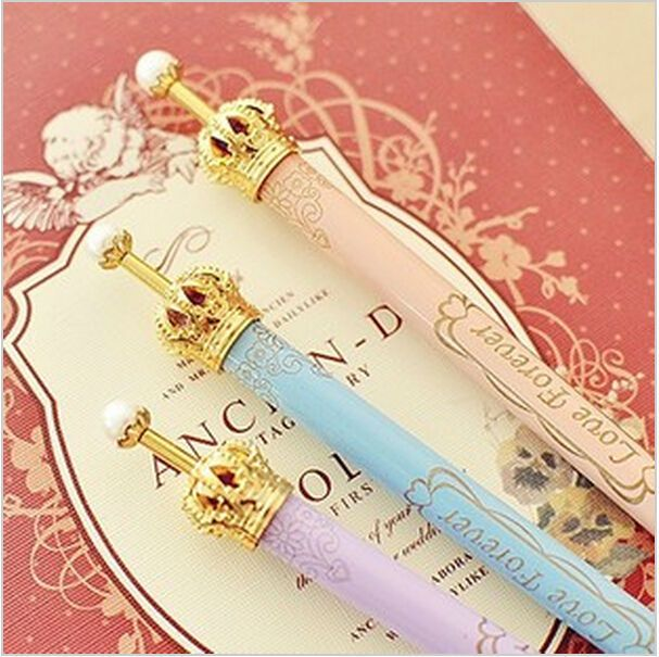 Korea stationery elegant gentlewomen princess wind gold small pen ballpoint pen unisex pen Office & School Supplies WJ0315 #jewelry, #women, #men, #hats, #watches, #belts, #fashion