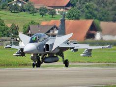 Royal Swedish Air Force Saab JAS 39 Gripen fighter.