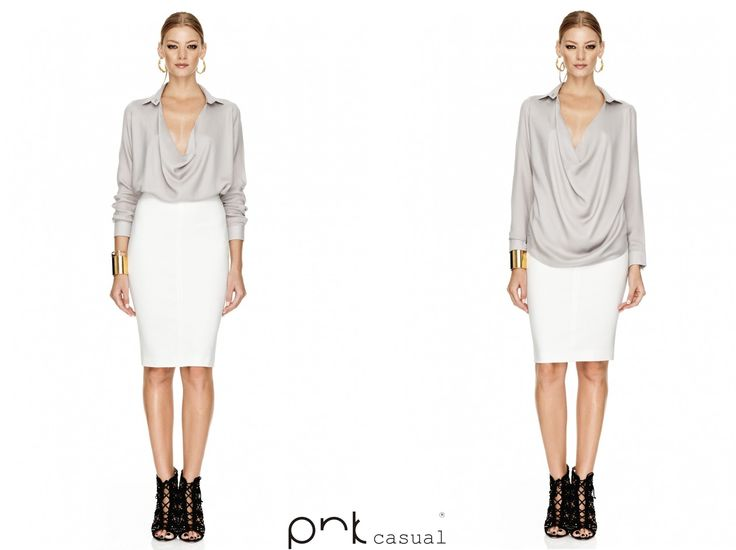 Wear a white skirt to create a sophisticated look. #winter #pnkcasual #fashion #cool #happiness