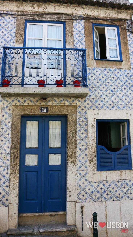 Traditional façades in Lisbon