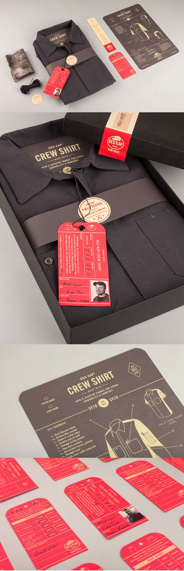 Here you go Léonie van D. a little longer pin. Red Kap #identity #packaging #branding PD