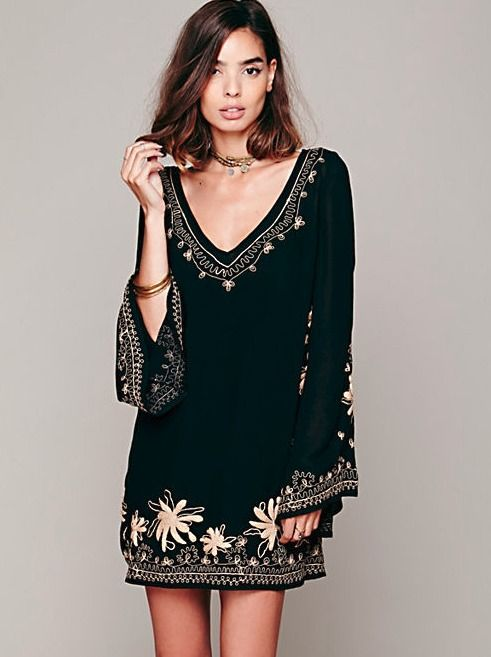 Skyfall Embroidered Dress