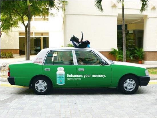 40+ esempi di Taxi Advertising creativo