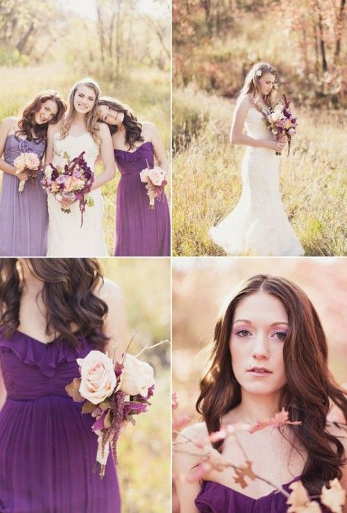 Peach And Plum Wedding Inspiration | Weddingomania
