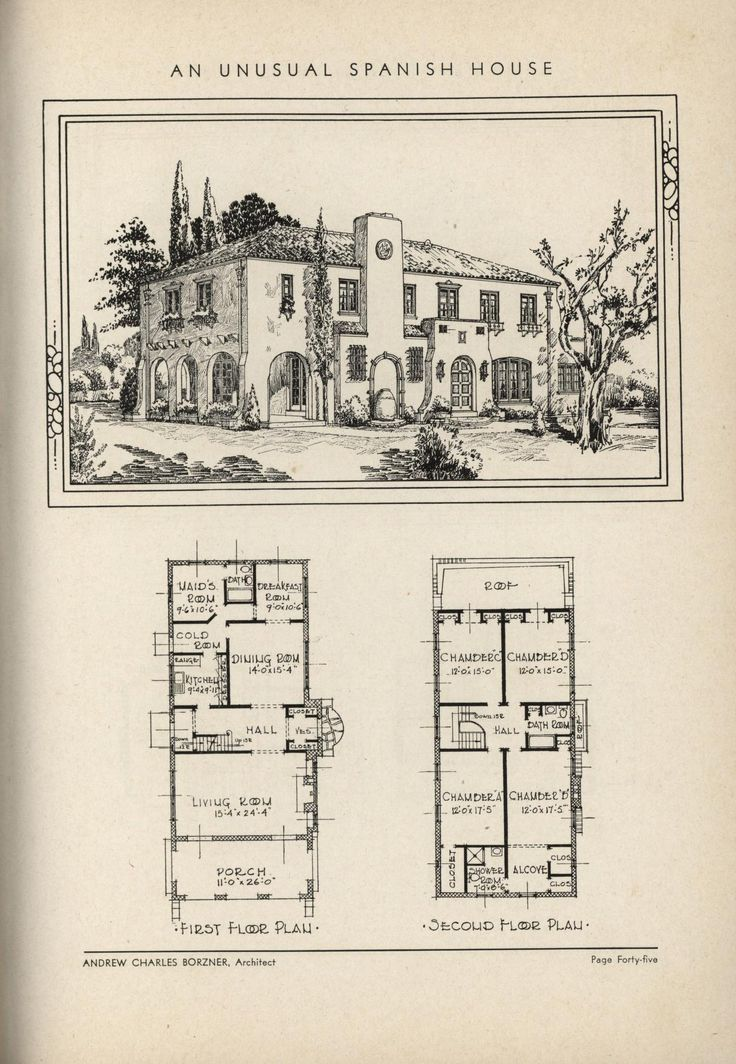 unusual Spanish by Architect Andrew Charles Borzner