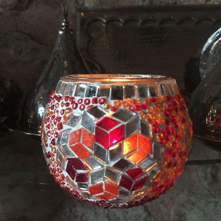 TURKISH MOSAIC TEA LIGHT, CANDLE HOLDER