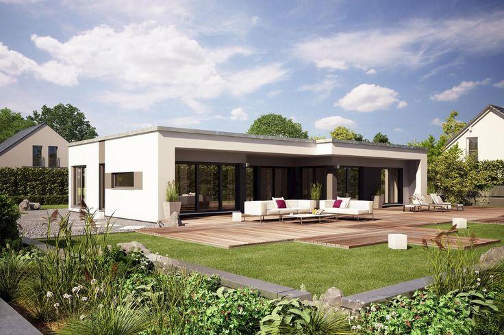 22 besten optik bungalow bilder auf pinterest wohnen for Hausbau modern satteldach