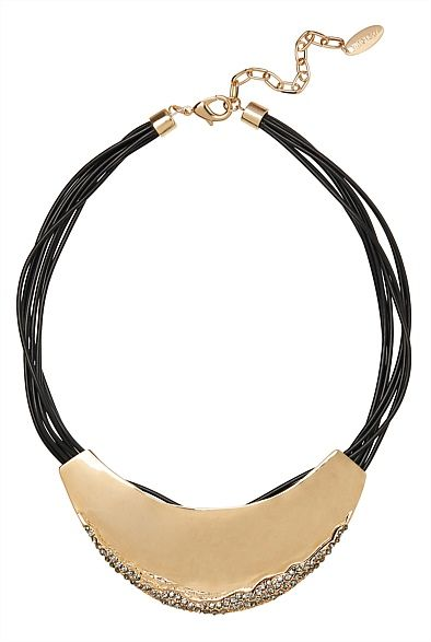 Crescent Encrusted Necklace
