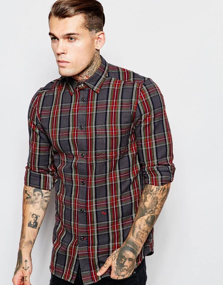 Diesel+Shirt+S-Tokie+Check+Shirt