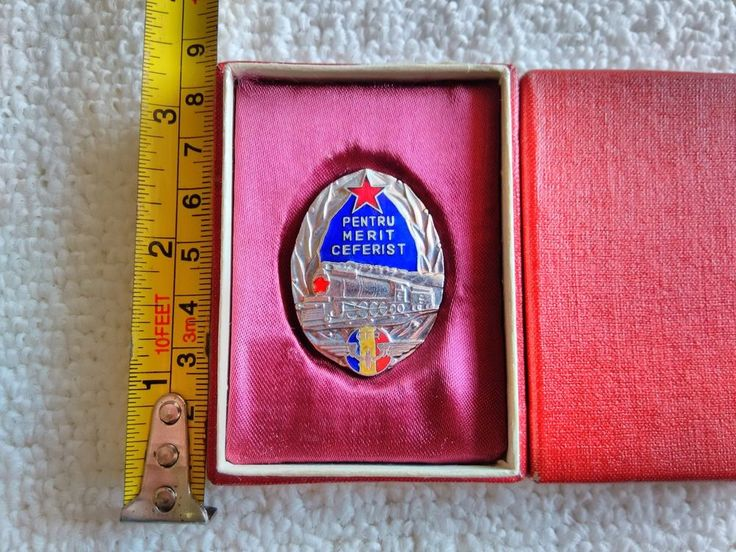 Vintage Romania/Romanian National Railway CFR Medal Pin Badge