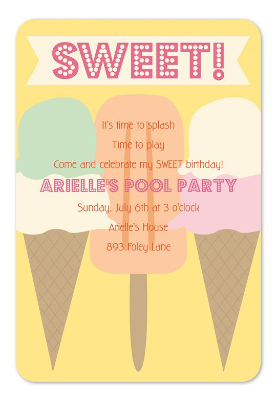 25 best images about Pool Party Invitations – Summer Party Invitation Ideas