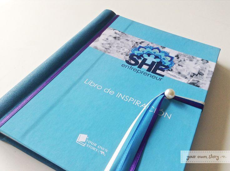 Libro de Inspiración para She Entrepreneur, para que las emprendedoras dejen sus datos y dedicatorias.  Encargá uno para tu evento en https://yourownstory.tiendanube.com/