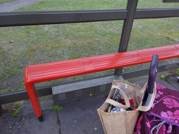 19th February 2017 - something you sit on. Bench in bus shelter, opposite Green Street Green bus garage.