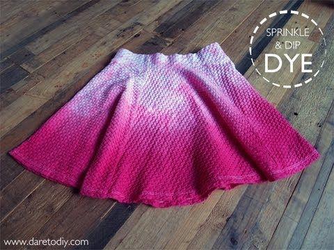 Dare to DIY: Experimentos con tinte: Dip dye vs. sprinkle dye