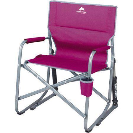 Ozark Trail Portable Rocking Chair, Red