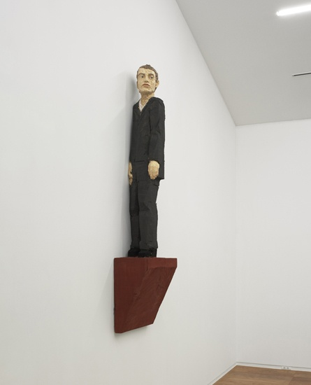 wall sculpture (man in grey suit), 2011 Stephan Balkenhol