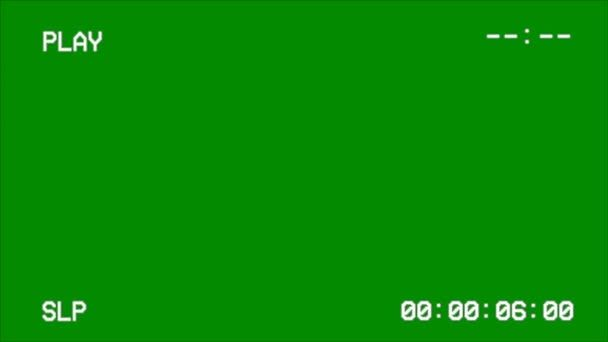 Vcr Vhs Screen Interface On A Green Screen In 2020 Greenscreen Green Aesthetic Black Aesthetic