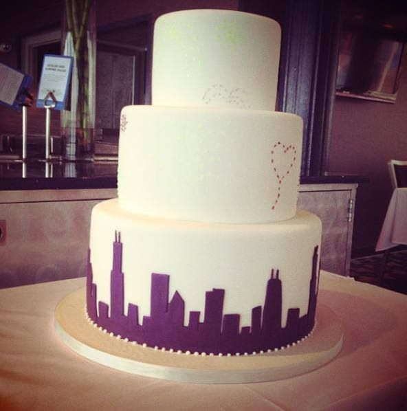 44 Best Images About Silhouette Skyline Cake On Pinterest
