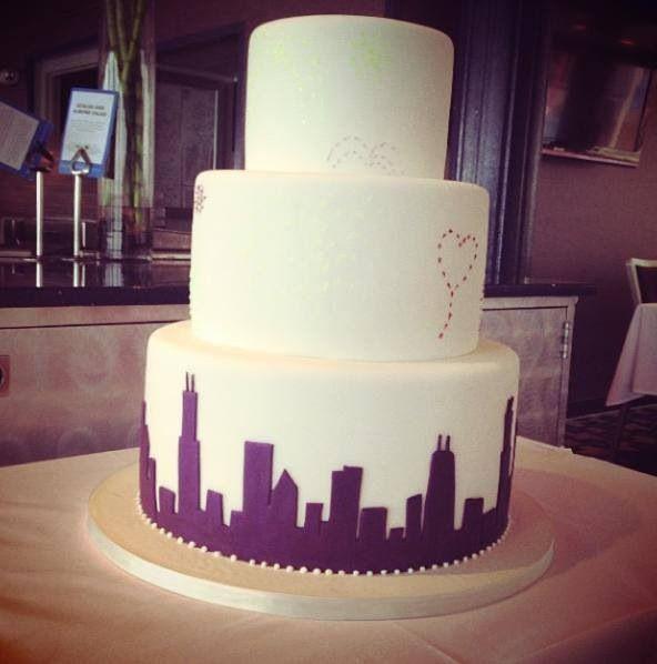 chicago skyline cake specialty cakes pinterest