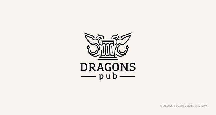 Логотип с драконами