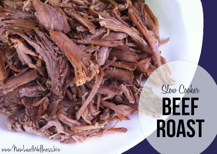 Slow cooker beef roast recipe. Easy and delicious. Eat plain or on a sandwich. Yum.