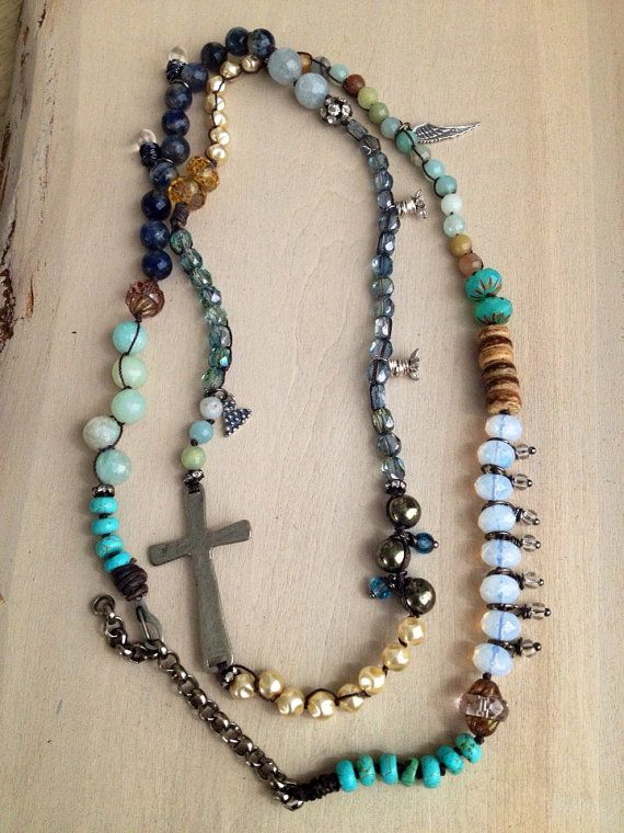 Bohemian Luxe Long Rosary Necklace Or 5x Wrap Bracelet